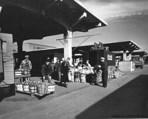 Le marché Jean-Talon (1955)