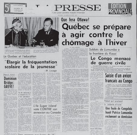 Grève à la Dominion Bridge (La Presse du 26 août 1960)